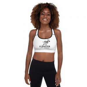 all over print padded sports bra black front 60be8d2602875