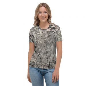 all over print womens crew neck t shirt white front 60c22c0274467