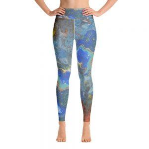 all over print yoga leggings white front 60be812f02996