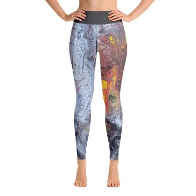 all over print yoga leggings white front 60c634f36c749