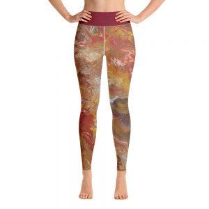 all over print yoga leggings white front 60c63613977bf