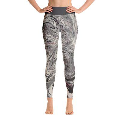 all over print yoga leggings white front 60c6385763cd4