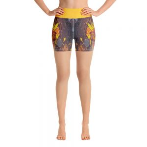 all over print yoga shorts white front 60c6277aa2f8a
