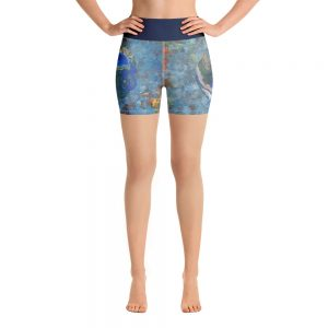 all over print yoga shorts white front 60c62f5fe5b66