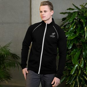 mens piped jacket black white front 60c23a930b828