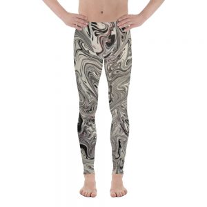 all over print mens leggings white front 60f0676a5af0a