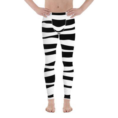 all over print mens leggings white front 60f071377df08