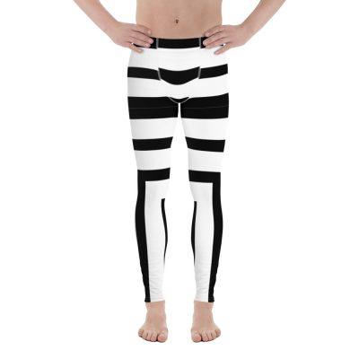 all over print mens leggings white front 60f07eec8f3e8