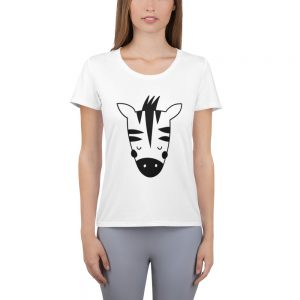 all over print womens athletic t shirt white front 60f064429160a